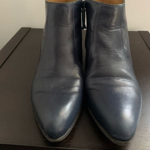 Women's navy blue ankle boots